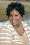 Donna di colore felice Fotografie Stock