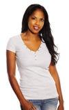 Donna di colore graziosa Immagine Stock Libera da Diritti