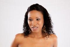 Donna di colore graziosa Immagini Stock