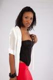Donna di colore graziosa premurosa Fotografie Stock