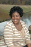 Donna di colore sorridente Immagine Stock