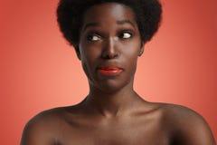 Donna di colore turbata Immagine Stock Libera da Diritti