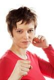 Donna di combattimento fotografie stock libere da diritti