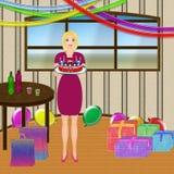 Donna di compleanno Immagini Stock