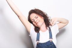 Donna di conquista di successo Fotografia Stock Libera da Diritti