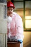 Donna di CSI Fotografie Stock