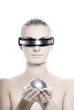 Donna di Cyber Fotografia Stock