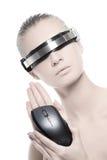 Donna di Cyber Immagini Stock