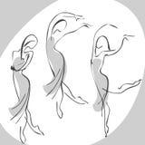 Donna di Dancing illustrazione di stock