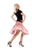 Donna di Dancing Fotografie Stock Libere da Diritti