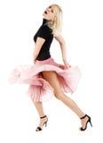Donna di Dancing Immagini Stock
