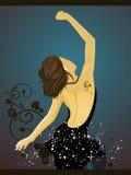 Donna di Dancing Fotografie Stock