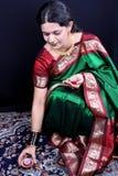 Donna di Diwali Immagini Stock Libere da Diritti