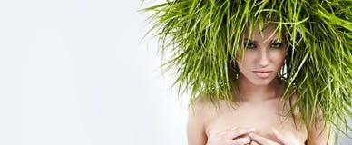 Donna di ecologia, concetto verde fotografia stock libera da diritti