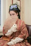 Donna di era di guerra civile Immagini Stock