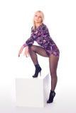 Donna di fascino con i bei piedini Fotografia Stock Libera da Diritti
