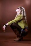Donna di fascino in vetri Fotografia Stock Libera da Diritti