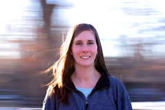 Donna di filatura Fotografie Stock Libere da Diritti