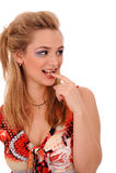 Donna di flirt Fotografia Stock