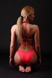 Donna di forma fisica in bikini Fotografie Stock