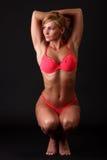 Donna di forma fisica in bikini Fotografia Stock