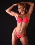 Donna di forma fisica in bikini Fotografia Stock Libera da Diritti