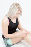 Donna di forma fisica dei capelli biondi Immagini Stock Libere da Diritti