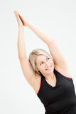 Donna di forma fisica dei capelli biondi Immagini Stock