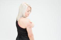 Donna di forma fisica dei capelli biondi Fotografie Stock Libere da Diritti