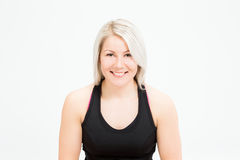 Donna di forma fisica dei capelli biondi Fotografia Stock
