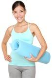Donna di forma fisica di esercitazione Immagine Stock