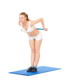 Donna di forma fisica di sport Fotografie Stock Libere da Diritti