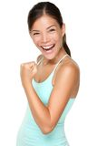 Donna di forma fisica - energia fresca fotografia stock libera da diritti