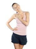 Donna di forma fisica. Sport. Fotografia Stock Libera da Diritti