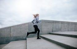 Donna di forma fisica sull'allenamento di mattina Fotografia Stock Libera da Diritti