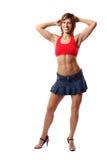 Donna di forma fisica in vestiti sexy Fotografia Stock Libera da Diritti