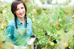 Donna di giardinaggio Fotografie Stock