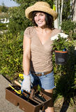 donna di giardinaggio Immagine Stock
