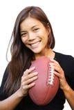 Donna di gioco del calcio immagini stock