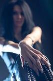 Donna di Goth Fotografia Stock