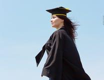 donna di graduazione Immagini Stock Libere da Diritti