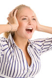 Donna di grido Immagine Stock Libera da Diritti