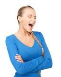 Donna di grido Fotografia Stock Libera da Diritti