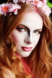 Donna di Halloween Elf Immagini Stock
