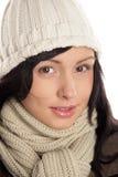 Donna di inverno fotografie stock