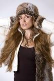 Donna di inverno Fotografia Stock Libera da Diritti