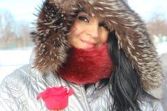 Donna di inverno di modo Immagini Stock Libere da Diritti