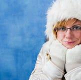 Donna di inverno, ritratto Fotografie Stock Libere da Diritti