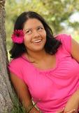 Donna di Latina che rotola i suoi occhi Fotografia Stock Libera da Diritti