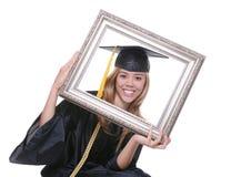 Donna di laurea Immagini Stock